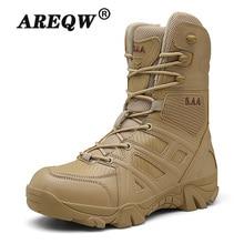 2020men haute qualité marque militaire chaussures en cuir Forces spéciales tactiques hommes bottes pour le désert rue chaussures bottines