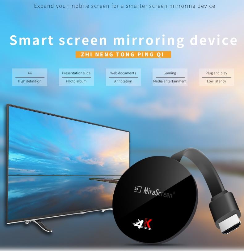 Mirascreen-دونجل تلفزيون G7 Plus 5G ، لاسلكي ، مع wifi ، 4K ، Airplay ، Miracast ، DLNA ، تدفق الشاشة ، Anycast ، mirror screen