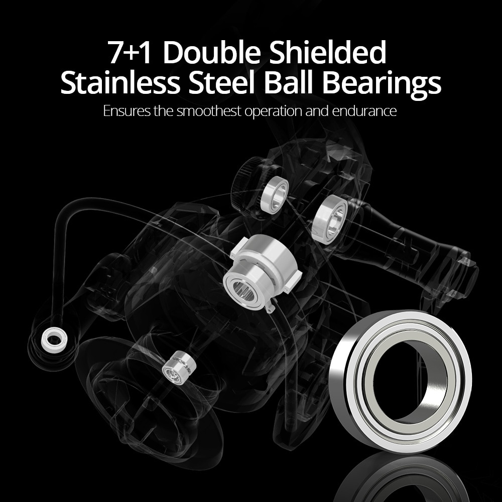 Megatron Spinning Fishing Reel 18KG Max Drag  7+1 Ball Bearings Aluminum Spool Carbon Fiber Drag Saltwater Fishing Coil enlarge