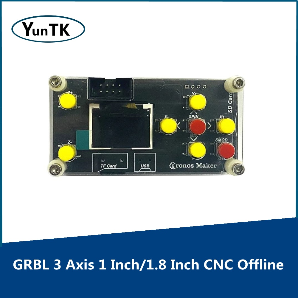 GRBL 3 Axis 1 Inch/1.8 Inch CNC Offline Controller Board  for PRO 1610/2418/3018 Engraving Machine Carving Milling Machine grbl cnc offline 3 axis controller board for 3018 pro 1610 2418 3018 engraving 28tc