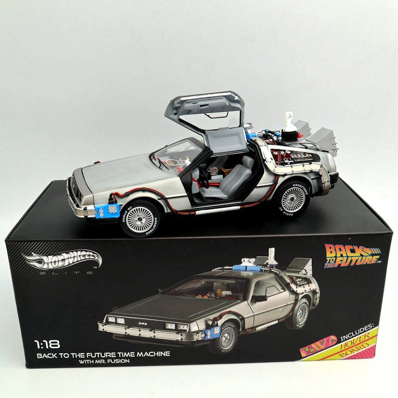 Фото - 1/18 Scale For Hot Back To The Future Time Machine Ultimate Elite Edition BCJ97 Models Diecast Toys Hobbies Collection Gifts fritz reuter leiber sf ultimate collection 20 time travel