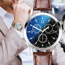 Business Style Black Dial Watches Mens Brand Retro Design Leather Strap Analog Quartz Wrist Watch Sp
