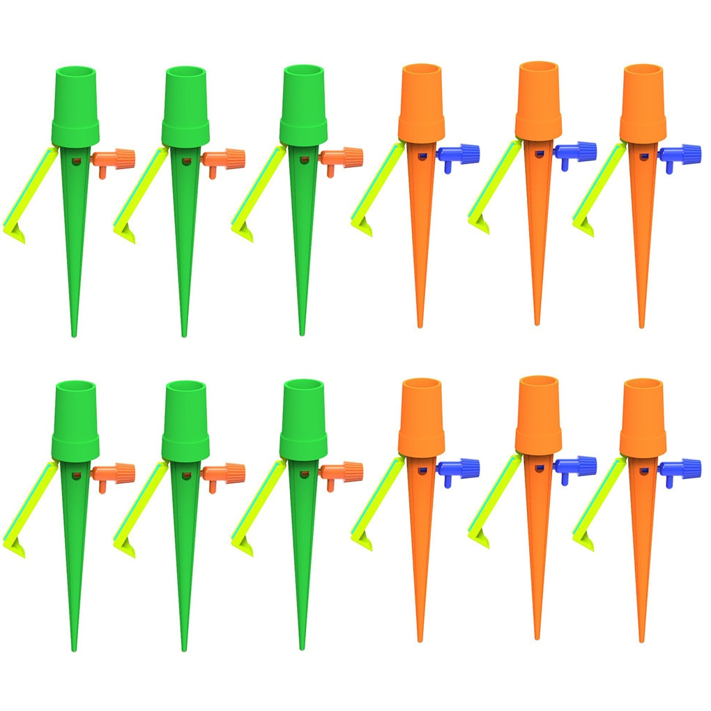4~12pcs Automatic Watering Device Automatic Watering Spikes Home Garden Flower Pot Self-watering Irrigation System Slow Release недорого