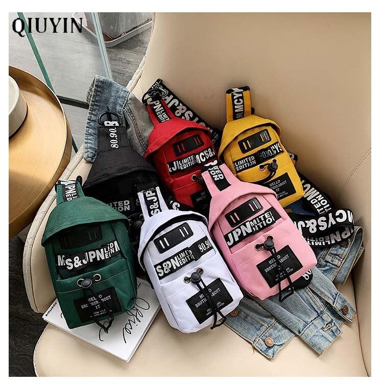 Qiuyin, bolsos cruzados de diseño de lujo a la moda, riñonera para mujer/mujer, bonita mochila grande para el vientre, riñonera deportiva, bolsa para el pecho