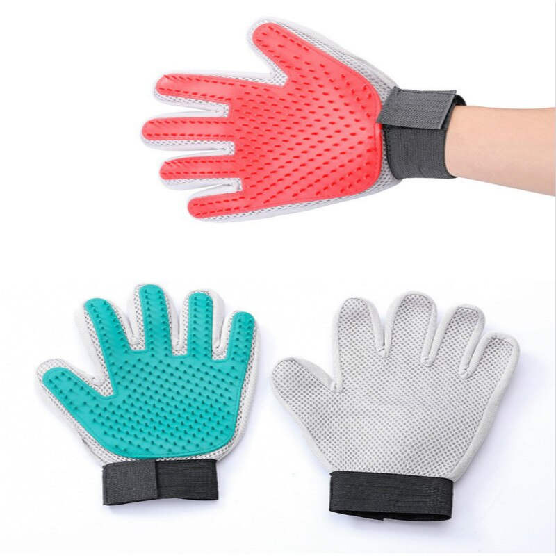 Pet Dog Gloves Grooming Supplies Cat Brush Dogs Cleaning Bathing Massage Hair Removal