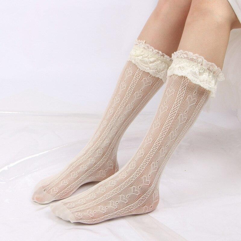 Lolita encantadora Sexy estilo escolar uniforme media Mujer calcetín Cosplay disfraz medias encaje de Halloween medias para niñas