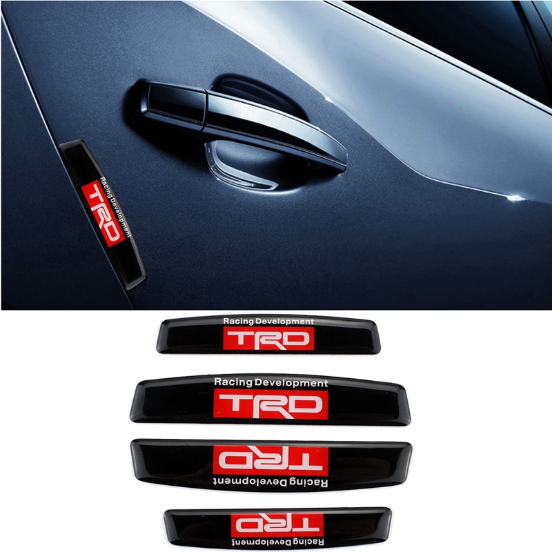 Pegatinas protectoras para puerta de coche TRD Toyota, para Tundra Camry Auris, Yaris Corolla RAV4 Prado Avensis Verso Vitz, tiras blandas para parachoques