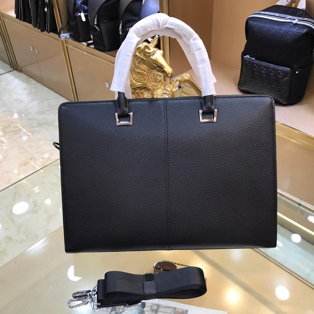 New men's leather business briefcase, casual men's shoulder bag, messenger bag, men's notebook handbag, men's travel bag