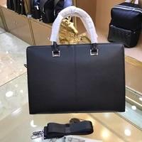 new mens leather business briefcase casual mens shoulder bag messenger bag mens notebook handbag mens travel bag