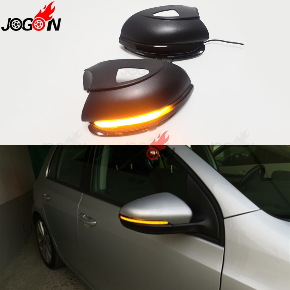 Для VW GOLF 6 MK6 GTI R32 08-14 Touran светодиодный индикатор поворота с динамическим боковым зеркалом заднего вида, мигающий индикатор, светильник