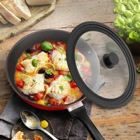 universal lid for pots pans and skillets tempered glass with heat resistant silicone rim fits 10 5 11 and 12 diameter