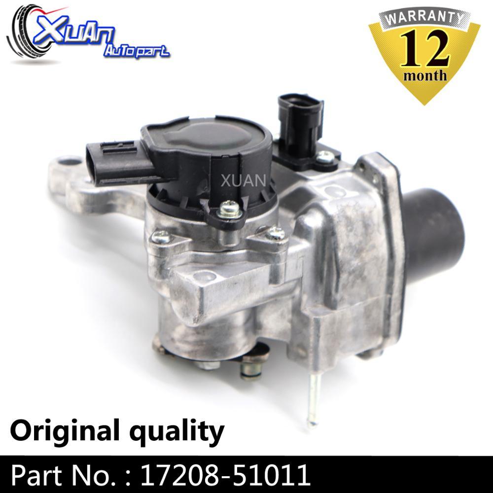 XUAN Turbo accionador de válvula de descarga RHV4 VB37 17208-51011 Turbo electrónico cargador para Toyota Landcruiser V8 D 195Kw 261HP 1VD-FTV