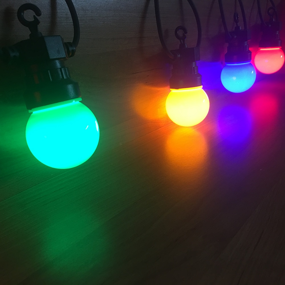 Color LED lamp, G50 color bulb, pluggable, party, Christmas, wedding, outdoor, IP65 enlarge