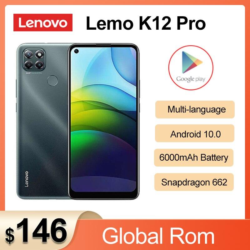 Перейти на Алиэкспресс и купить 2020 Новый Lenovo Lemo K12 Pro 4G мобильный телефон 6,8 дюймов Snapdragon662 Octa Core 6000mAh аккумулятор большой емкости 64,0 задняя камера смартфона