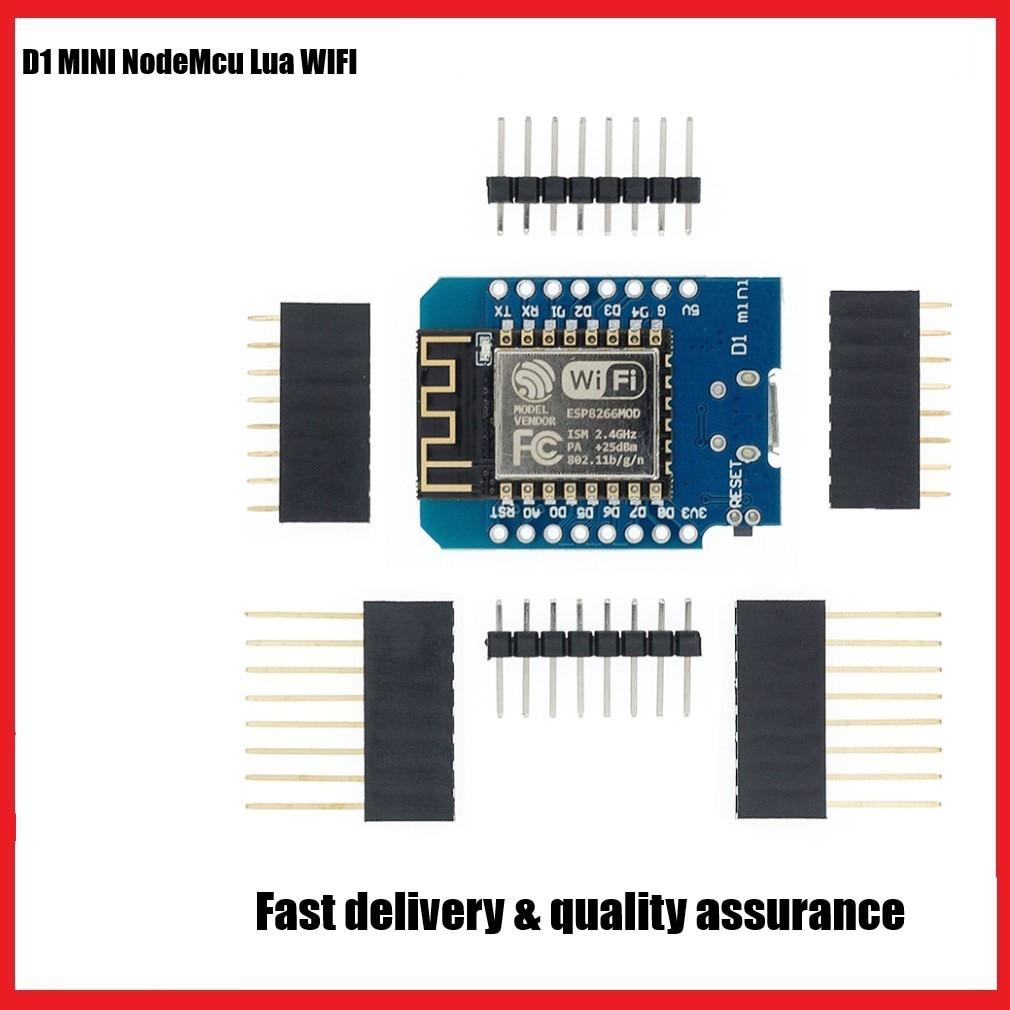 ESP8266 ESP-12 ESP-12F ESP12F CH340G CH340 V2 USB WeMos D1 Mini WIFI Development Board NodeMCU Lua IOT Board 3.3V With Pins недорого