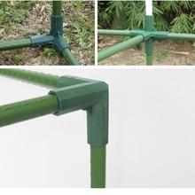 Plante auvent connecteur pilier raccords plastique acier tuyau vigne cadre serre support assemblage pièces de connexion outils de jardin