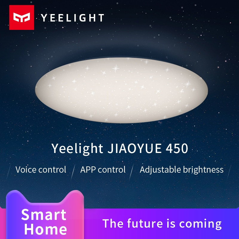 Yeelight jiaoyue 450 luz de teto inteligente led night light google assistente amazon alexa suporte controle voz xiaomi mi casa app