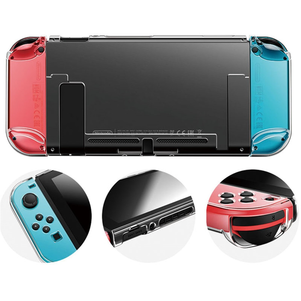 Detachable Crystal PC Transparent Case For NS Switch NS Cases Hard Clear Back Cover Shell enlarge