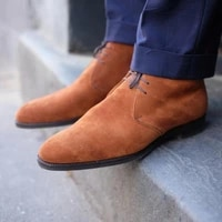 2021 new men shoes handmade high grade brown suede fashion casual trend all match classic lace up dress ankle boots 6kf493