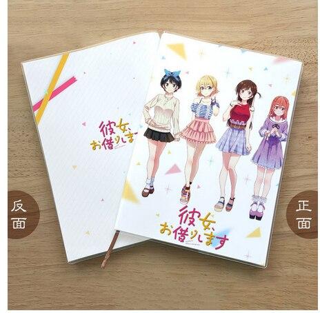 Anime Rent-A-Girlfriend Kinoshita Kazuya Student Notebook Eye Protection Diary Notepad Jotter Memorandum Gifts Cosplay