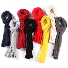2021 Fashion Men Scarf Knitted Solid Cashmere Neck Scarves Pashmina Shawls Wraps Women Foulard Wool