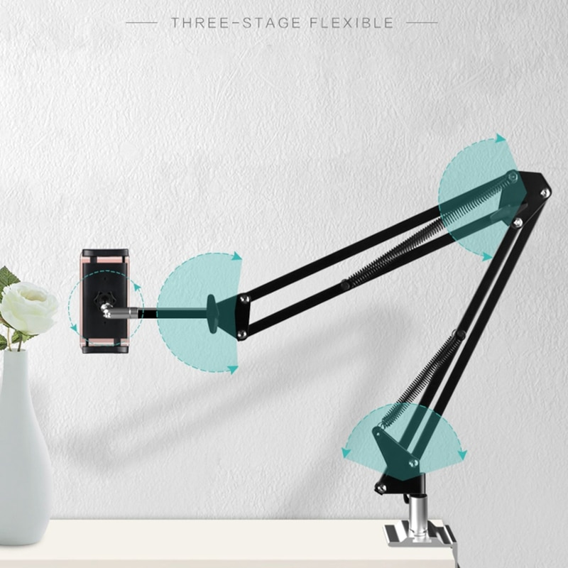 Adjustable Tablet Holder for Bed Table Mount 360 Rotation Cell Phone Bracket for iPhone iPad Arm Stand  - buy with discount