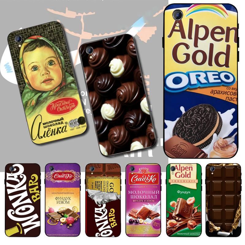 NBDRUICAI Alenka Wonka Chocolate Bar Phone Case For Vivo Y91c Y17 Y51 Y67 Y55 Y93 Y81S Y19 Y7S Case