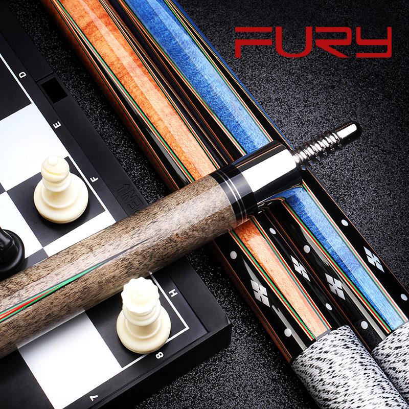 Fury Billiard Pool Cue Sticks North American Maple Shaft Radial Pin Joint Digital Engraving Design Butt Billar Kit New Arrival