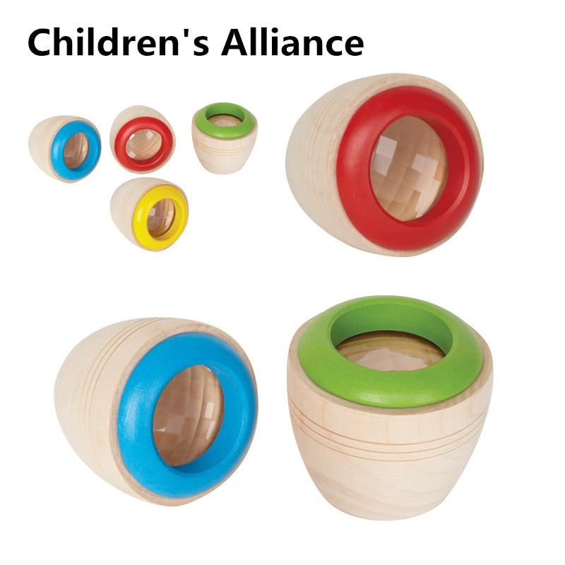 Caleidoscopios mágicos de madera, Juguetes Divertidos para niños, regalo para niños, preescolares, Prisma Montessori, rompecabezas educativo de Aprendizaje Temprano