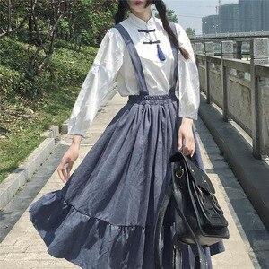 Japanese School Girl Costume Elegant Jumpsuit Dress Women Kawaii Clothes Harajuku Princess Sweet Lolita Big Swing Preppy Style