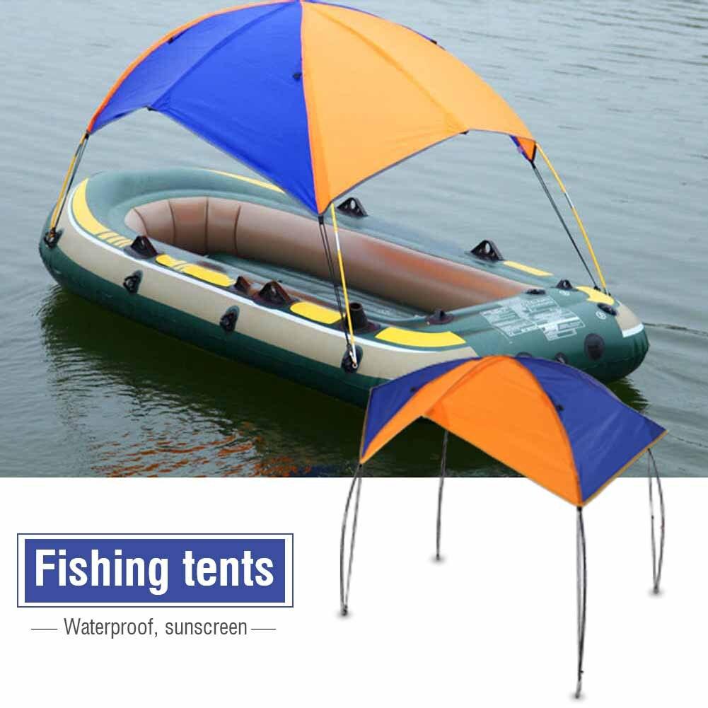 Новая наружная надувная лодка, солнцезащитный козырек, парусная лодка, тент, топ, гребные лодки, крышка, тент, навес от солнца, навес для дожд...