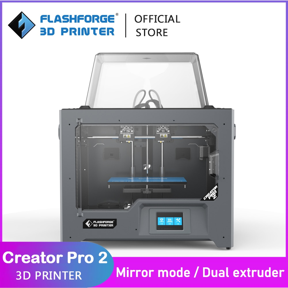 Flashforge 3D Creator Pro 2 DIY Kit Independent Dual Extruder Printer Mirror and Duplicate Printing Mode Support FlashPrint