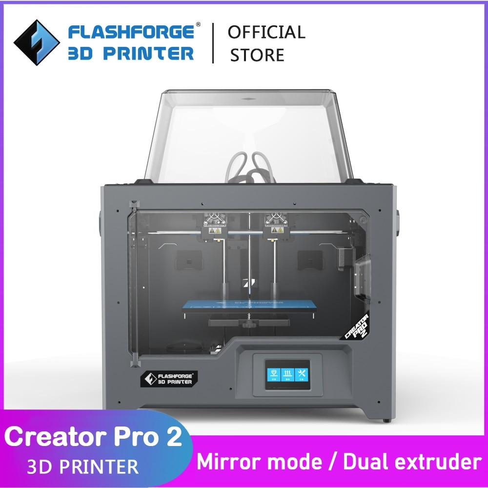 Flashforge 3D Creator Pro 2 DIY Kit Independent Dual Extruder Printer Mirror and Duplicate Printing Mode Support FlashPrint