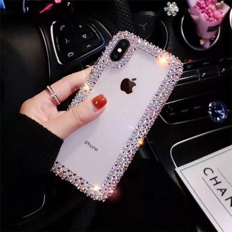 Для Xiaomi Redmi Note 7 6 5 Huawei Honor 8 Pro 4X 6A 7A K20 mi 8 Lite 9 SE A1 A2 Lite A3 макс 3 CC9 E 9T силиконовый чехол для телефона чехол со стразами
