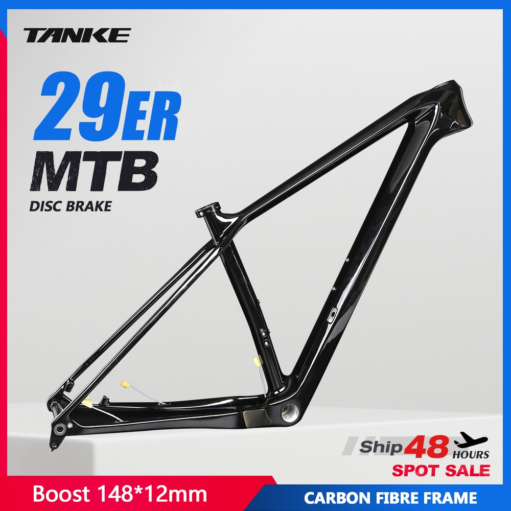 Bicycle Frame  27.5 29er MTB T800 carbon fiber boost Disc BB68 thread 148*12mm Thru Axle internal cable glossy Mountain Bikes