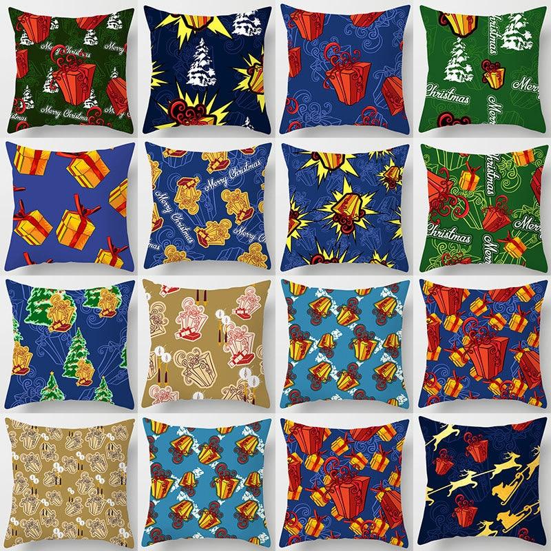 Фото - Christmas Cushion Cover Pillowcase Durable Waist Decorative Cushion Cover Office Home Sofa Car Cushion Pillowcase 45x45cm van gogh oil painting series decorative pillowcase gauguin chair vase bouquet forget me not print sofa cushion cover 45x45cm
