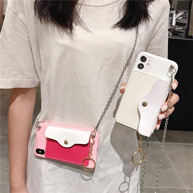 For Samsung A20 A20E A20S A21 A30 A30S phone case cover aesthetic lanyard crossbody card bag coque gadget popsocket uxury