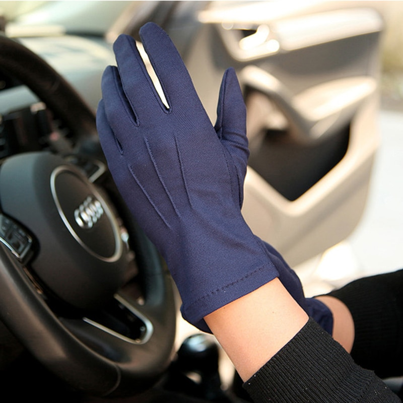 Summer Sunscreen Gloves Male Thin Style Breathable Non-Slip Five-fingers Driving Gloves For Man Absorb Sweat SZ105W1 latex gloves security protective five fingers wear resistant non slip 1 pair red and yellow for casting metallurgical