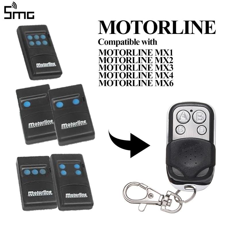 Para MOTORLINE MX1 MX2 MX3 MX4 MX6 433,92 MHz control remoto para puerta de garaje MOTORLINE controlador de código fijo clon para control de puerta