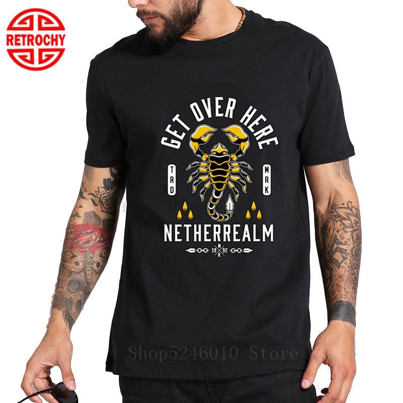 Skorpion Tattoo T-shirt Männer Lustige Kampfspiel Tops Straße Stil 100% Baumwolle Cobra Kai T Hemd Hiphop Musik Band Shirt dropship