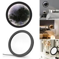 decoracao para casa usb rechargeable vanity mirror with lamp wall mounted led mirror lamp moon shaped home interior decoration
