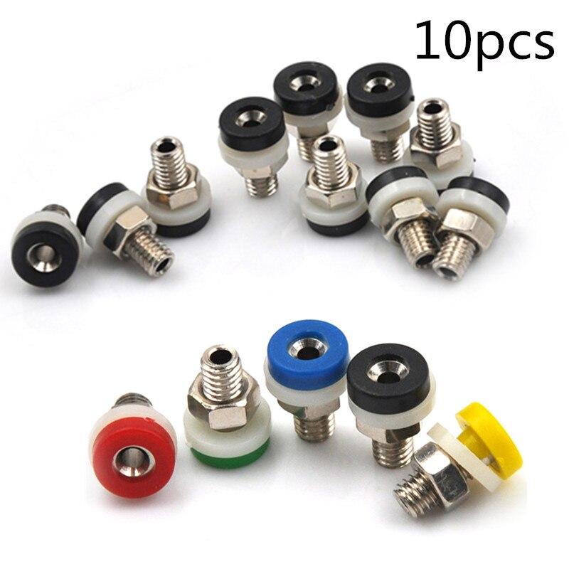 10 Uds. 5 colores latón 2mm conector Banana para conectores de prueba de 2mm Banana Plug gran oferta