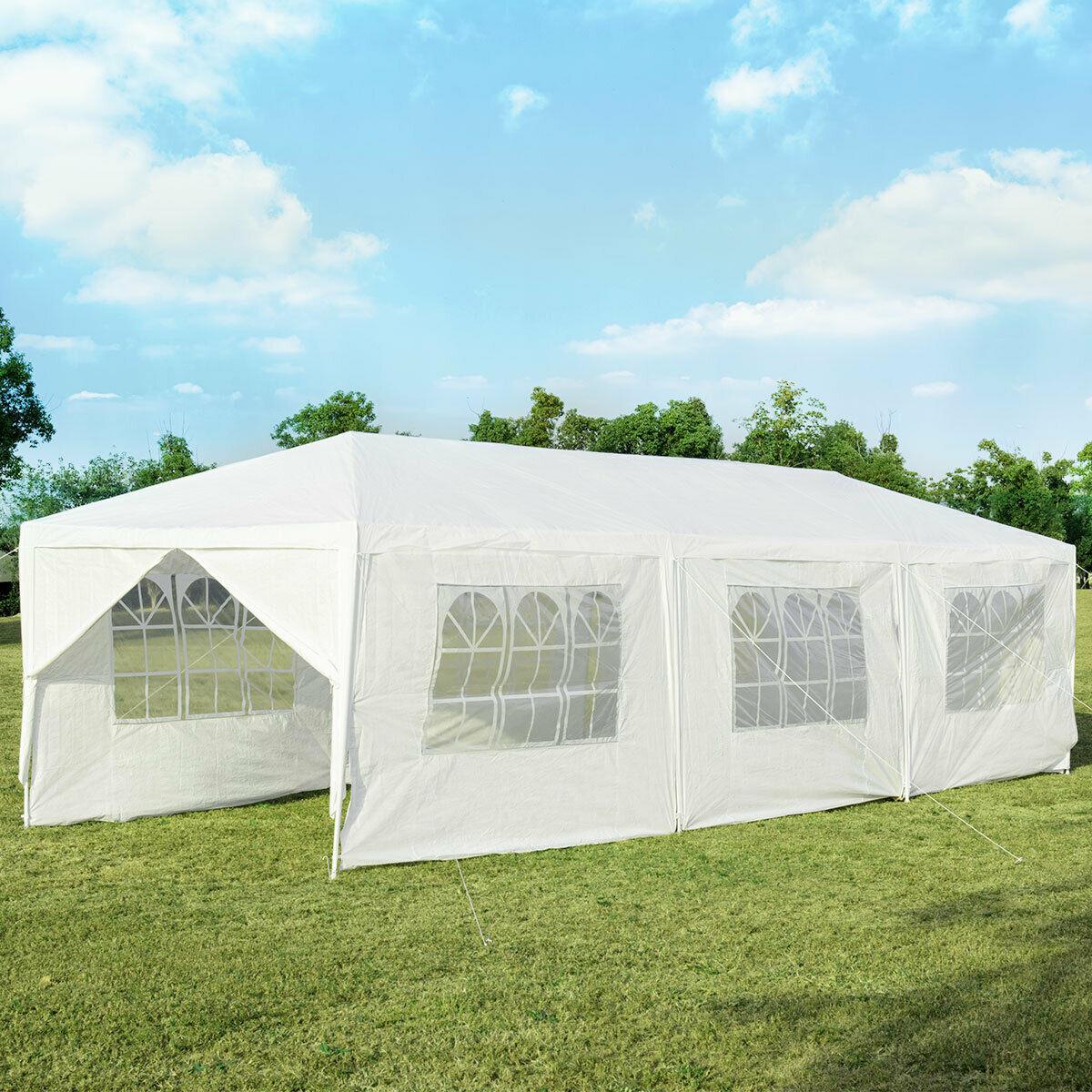 10'x30' Outdoor Party Wedding Tent Canopy Heavy duty Gazebo Pavilion 8 Sidewall  OP3936WH