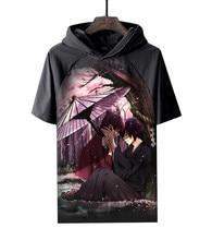 Anime Shirt Hakuouki Hakuoki Hooded T-Shirts Multi-style Short Toshizo Hijikata Hajime Saito Cosplay Motivs Hentai Shirts