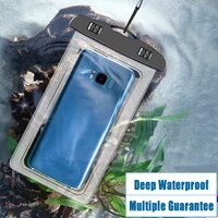universal phone waterproof bag pvc cell phone bag water sports beach pool surfing drift diving swimming bag for under 7 inches