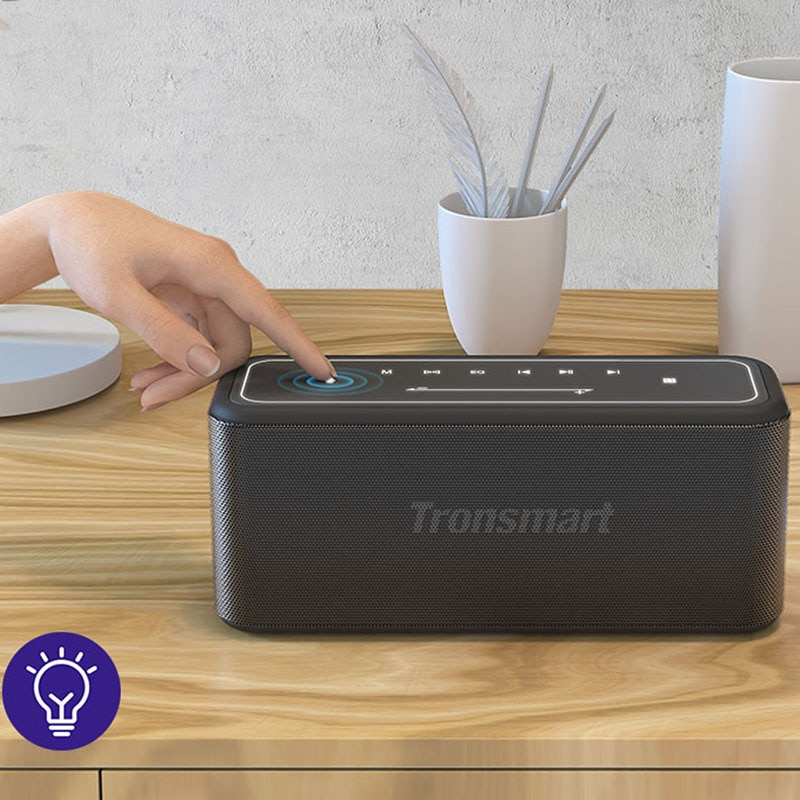 Tronsmart Mega Pro 60W Bluetooth Speaker Portable Home Speaker with Enhanced Bass, NFC, TWS, IPX5 Waterproof,Voice Assistant