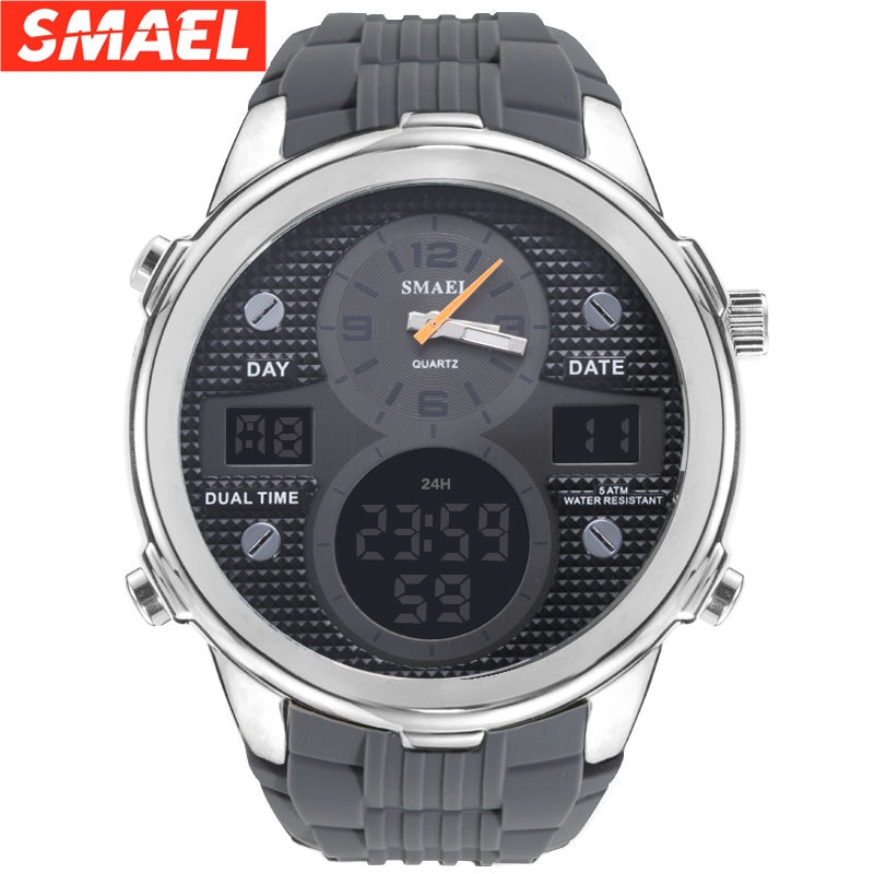 Smail's new product explosion sports watch men's multi-function outdoor waterproof double display led middle and university stud enlarge