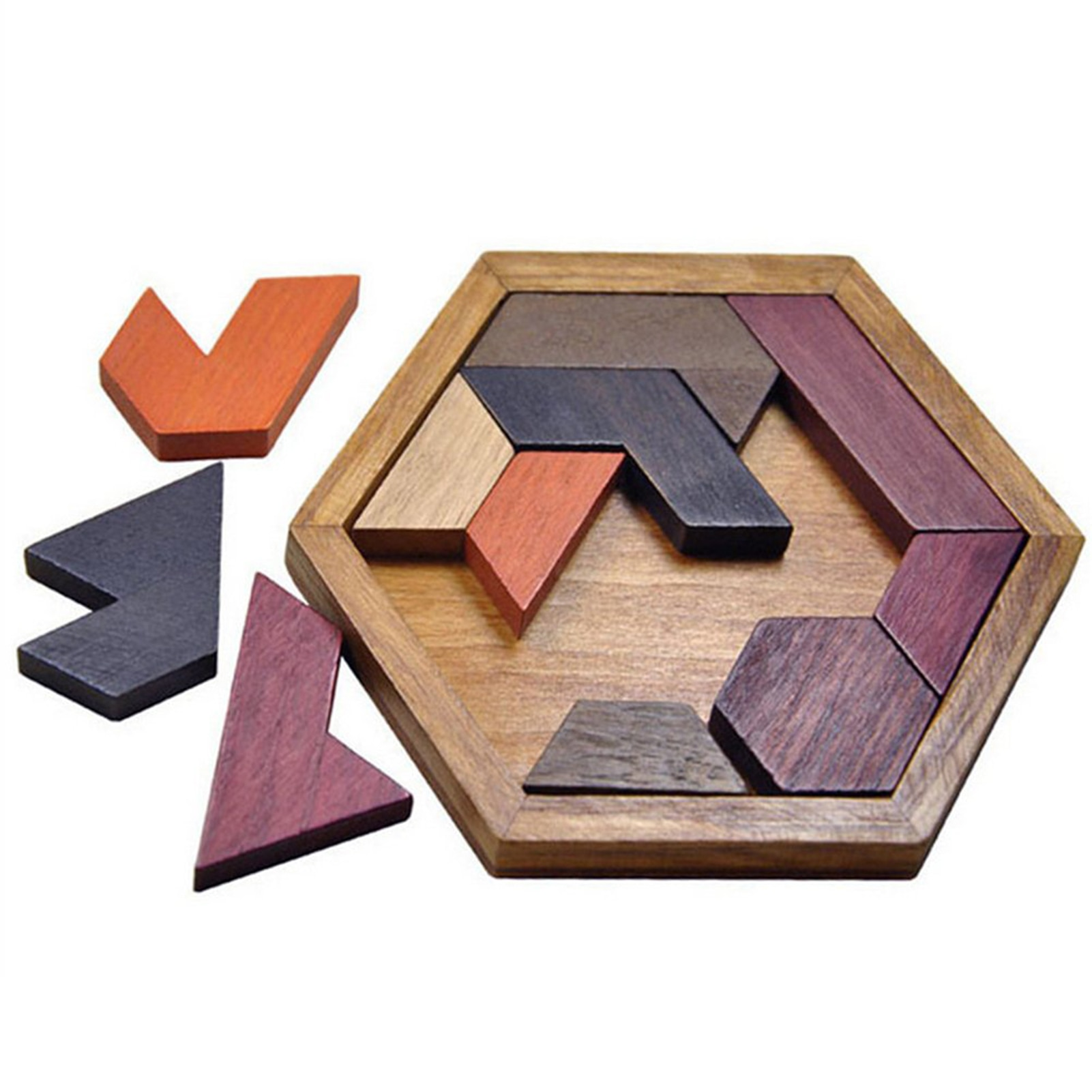 colorful cognition board kids montessori educational toy children wooden jigsaw color match game board puzzles child wooden toy Jigsaw Puzzle Montessori Toy Hexagonal Wooden Geometric Shape Jigsaw Puzzles Chess Game Kids Educational Toy Board Games
