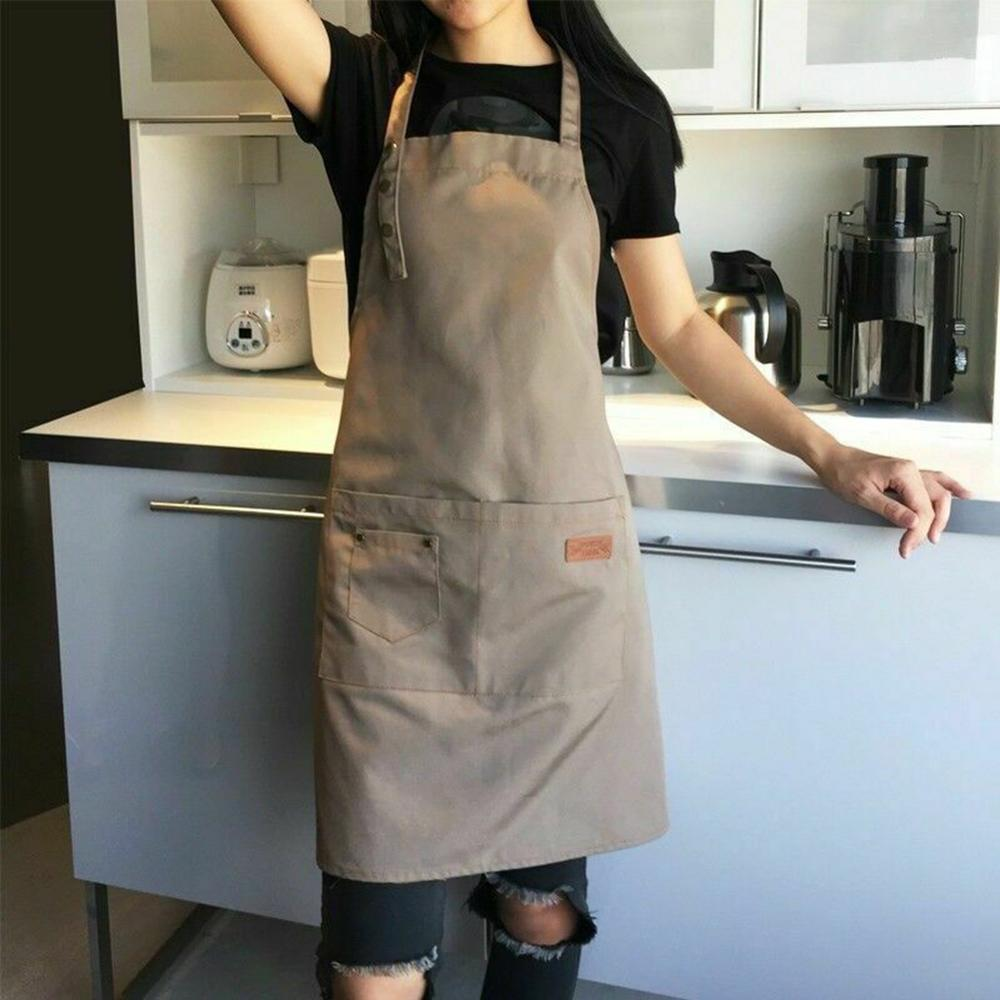 2021 Newest Hot Solid Cooking Kitchen Apron For Woman Men Chef Waiter Cafe Shop BBQ Hairdresser Aprons Bibs Kitchen Accessory enlarge