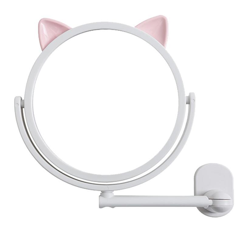 Espejo de maquillaje Oreja de Gato, espejo de pared, espejo de baño, espejo giratorio de tocador, herramientas de maquillaje